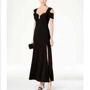 R &M Richards Cold Shoulder Gown